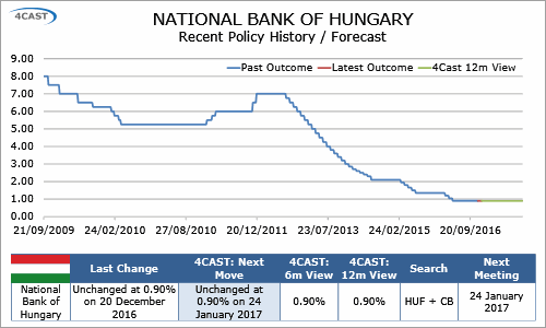 In-Depth Research: Hungary Preview  - NBH to hold its policy rate at 0.90% in January (0100-KPJB-C01)